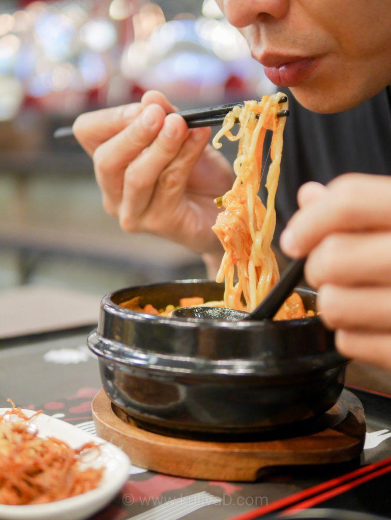 ซุปกิมจิหม้อไฟ